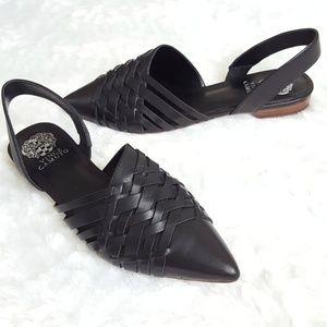 Like NEW! VINCE CAMUTO Meena Woven Leather Flats